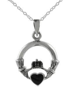 Onyx Claddagh Necklace