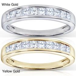 14k Gold 1/2ct TDW Princess Diamond Wedding Band (H-I, I1-I2)