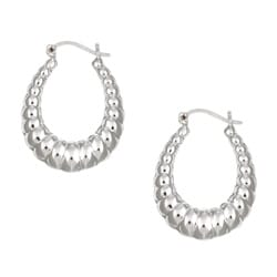 Sterling Essentials Sterling Silver Ribbed Hoop Earrings