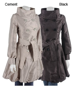 Coffee Shop Belted Taffeta Jacket