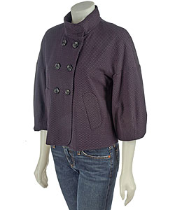 BCBG Max Azria Double Breasted Crop Jacket : Women's Fashion Apparel from Overstock.com :  jacket designer double-breasted cropped trench