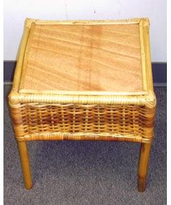 Overstock - Tribal Bamboo Wicker Patio Table - $46.99