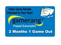 Gamerang Video Game Rental Gift Card (2 Months 1 Game Out)