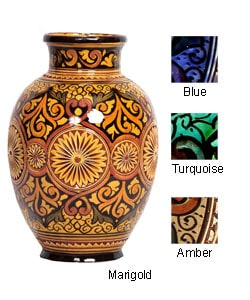 Extra Large Engraved Ceramic Vase (Morocco) : Home Decor from Overstock.com :  morocco home engraved decor