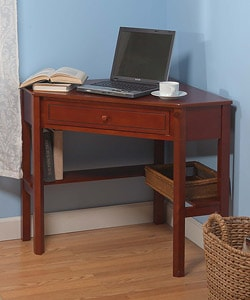 Solid Wood Corner Computer Desk : Office Furnishings from Overstock.com