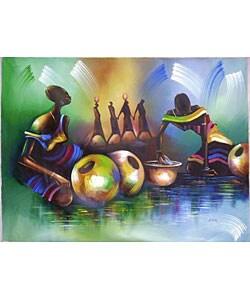 Asante Market Women Canvas Painting (Ghana)