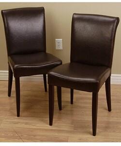 Overstock - Dark Brown Cosmopolitan Dining Chair (Set of 2) - $209.99