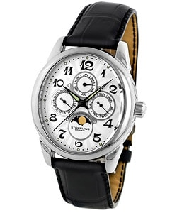 Stuhrling Original Aviator Calendar Moon Phase Swiss Watch