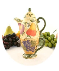 Tuscan Collection Hand-painted Tea for One Set