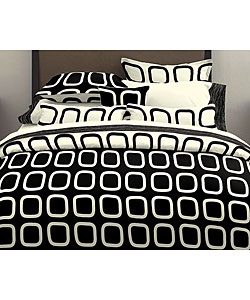 Overstock - Block Party Black Cream Duvet Cover Set - $49.99