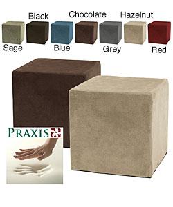 Deluxe Memory Foam Cube Ottoman
