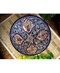 Decorative Casablanca Ceramic Bowl (Morocco) : Kitchen & Dining from Overstock.com :  morocco decorative ceramic kitchen
