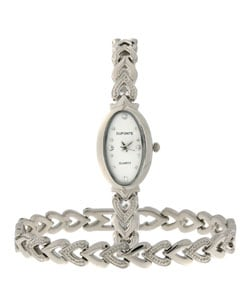 Dufonte by Lucien Piccard Hearts Bracelet and Watch Set