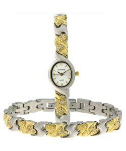 Dufonte by Lucien Piccard Women's Amore Bracelet and Watch Set