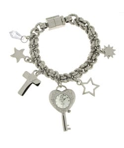Dufonte by Lucien Piccard 'Precious' Charm Bracelet Watch