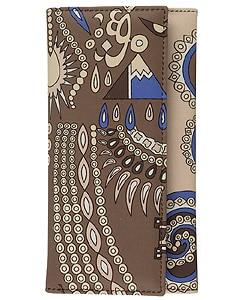 Emilio Pucci Brown/ Purple Flap Continental Wallet : Designer Store from Overstock.com :  blue designer brown emilio pucci