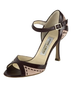 Jimmy Choo Brown Leather/ Suede Sandals : Designer Store from Overstock.com :  pumps designer jimmy choo brown leather suede sandals shoes