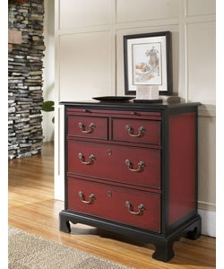 Hand-painted Black Ruby Accent Chest