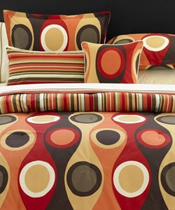 Retro Radar Camel/ Red Pillow Set