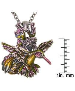 Hummingbird and Fairy Pewter Pendant