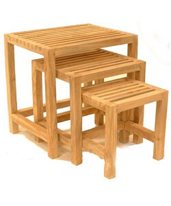 Overstock - Mango Wood Nesting Tables (India) - $83.99