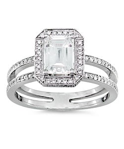 14k Gold 1 1/3ct TDW Emerald Cut Diamond Ring (H-I, SI - I)