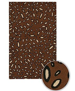 Hand-tufted Adara Wool Rug (7'9 Round) : Home Decor from Overstock.com :  wool mod design interior