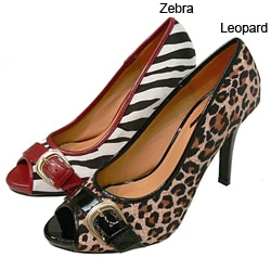 Glaze by Adi Animal Print Peep Toe Pumps : Shoes from Overstock.com