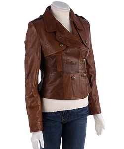Leather Brown Jacket Women