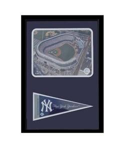 Yankee Stadium with Mini Pennant Frame