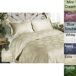 All Cotton Floral 230 Thread Count Duvet Cover Set
