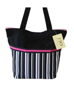 Jo Jo Designs Multicolor Stripe Tote        : Handbags from Overstock.com :  striped handbag tote multicolor