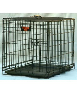 Single Door Large 42-inch Folding Medium to Large Dog Crate Cage