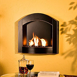 Arch Top Wall Mounted Gel Fuel Fireplace