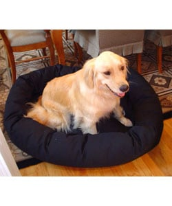 Extra Large 52-inch Luxurious Bagel Style Donut Plush Pet Dog Bed