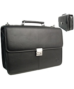 Cadillac Combination Lock Black Computer Leather Case