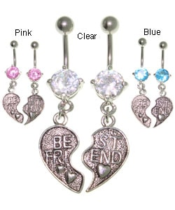 CGC Pair of Best Friend Belly Rings