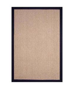 Hand-woven Jute Black Rug (9' x 12')