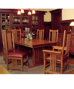 Mission Solid Oak Grand Dining Table