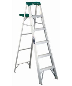 Aluminum 6-foot 225-pound Rated Step Ladder 3428201