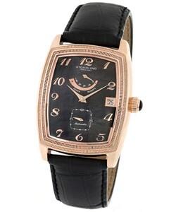 Stuhrling 'Century Plaza' Rose Goldtone Automatic Watch