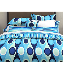 Retro Radar Blue Duvet Set