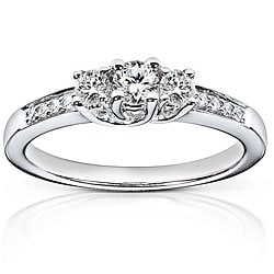14k White Gold 1/3ct TDW Round Diamond Engagement Ring (G-H, I1-I2)