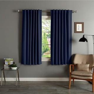 Solid Insulated Thermal 63-inch Blackout Curtains