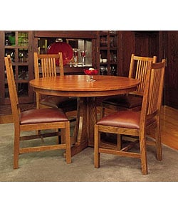 Mission Solid Oak 5-piece Dining Set