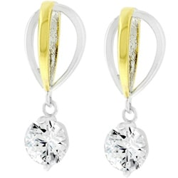 Two-tone Drop Earrings