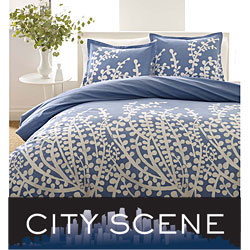 Branches French Blue 7-piece Bedding Ensemble