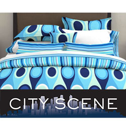Retro Radar Blue 3-piece Comforter Set