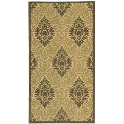 Safavieh Indoor/ Outdoor St. Barts Sand/ Grey Rug (2' x 3'7)