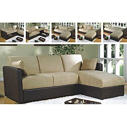 MÅNSTAD Corner sofa-bed with storage - Gobo dark beige - IKEA